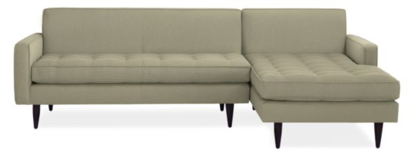 "Reese Custom 99"" Sofa with Left-Arm Chaise"