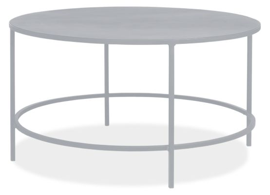 slim round cocktail table in colors - modern cocktail & coffee