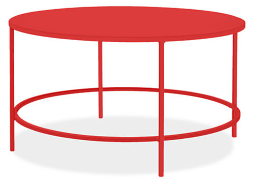 Slim Round Cocktail Table In Colors Modern Cocktail