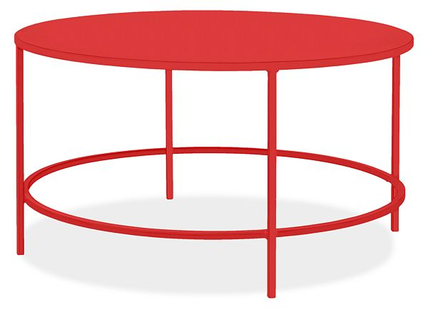 Slim Round Coffee Tables In Colors