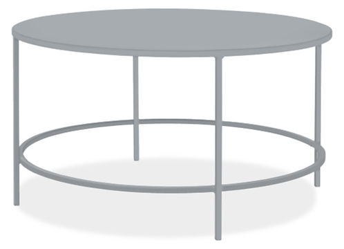 Slim 30 diam 16h Round Outdoor Coffee Table