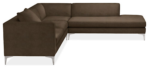 """Sterling 106x102"""" Three-Piece Sectional with Left-Back Sofa"""