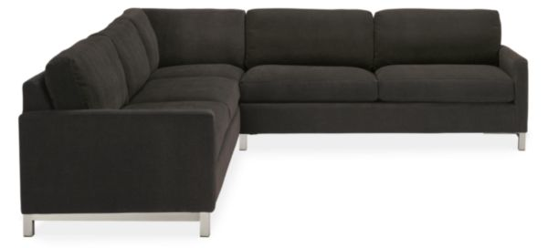 "Stevens Custom 103x103"" Three-Piece Sectional"