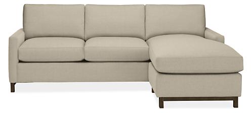 "Stevens Custom 91"" Sofa with Reversible Chaise"