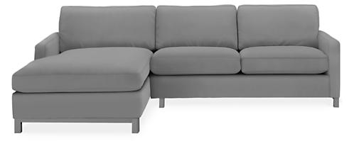 """Stevens Custom 106"""" Sofa with Left-Arm Chaise"""