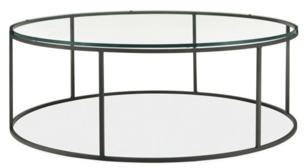 tyne round cocktail tables in natural steel - modern cocktail