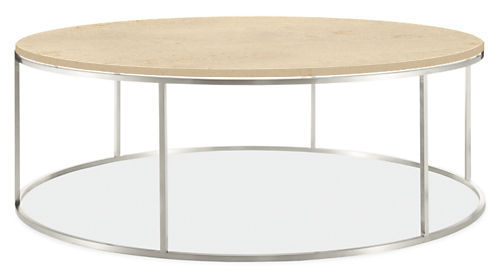 Tyne Round Tail Tables In Stainless Steel Modern Coffee Living Room Furniture Board
