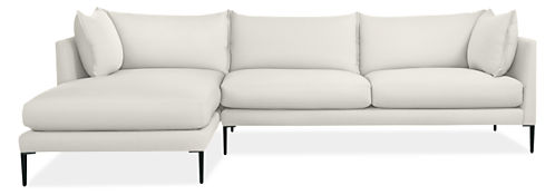 """Palm 115"""" Sofa with Left-Arm Chaise"""