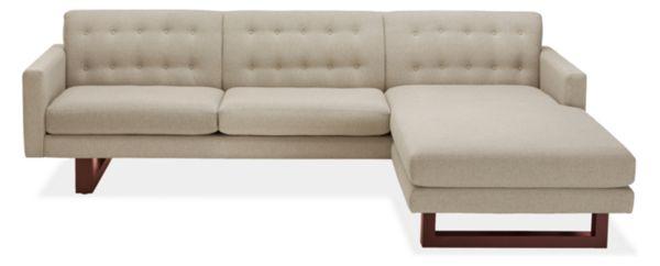 """Wells Custom 101"""" Sofa with Left-Arm Chaise"""