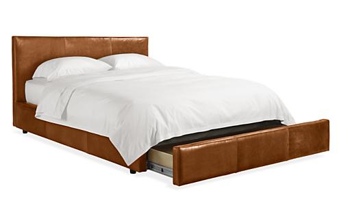 Wyatt Leather Storage Bed Modern Beds Amp Platform Beds