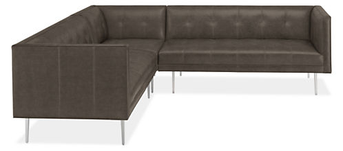 Wynwood Leather Sectionals - Mid-century Modern Sofas & Sectionals ...