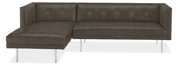 Wynwood Leather Sofa with Chaise