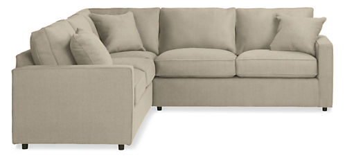 "York Custom 103x103"" Three-Piece Sectional"