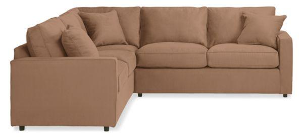 "York Custom 103x93"" Three-Piece Sectional with 58"" Left-Arm Sofa"