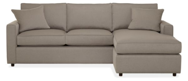 "York Custom 98"" Sofa with Reversible Chaise"
