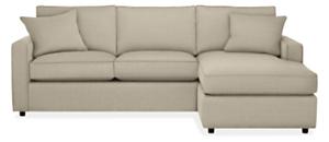 "York Custom 98"" Sofa with Reversible Chaise"