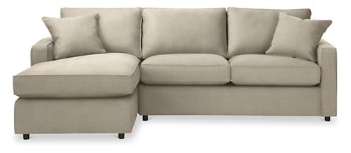 York Custom 105 Sofa With Left Arm Chaise