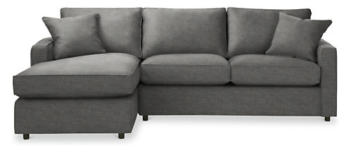 York 105 Guest Select Full Sleeper Sofa With Left Arm Chaise
