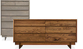 room and board dresser walnut modern dressers room board