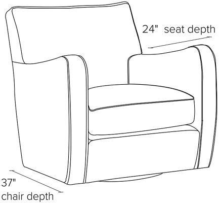Astonishing Brennan Leather Swivel Chair Uwap Interior Chair Design Uwaporg