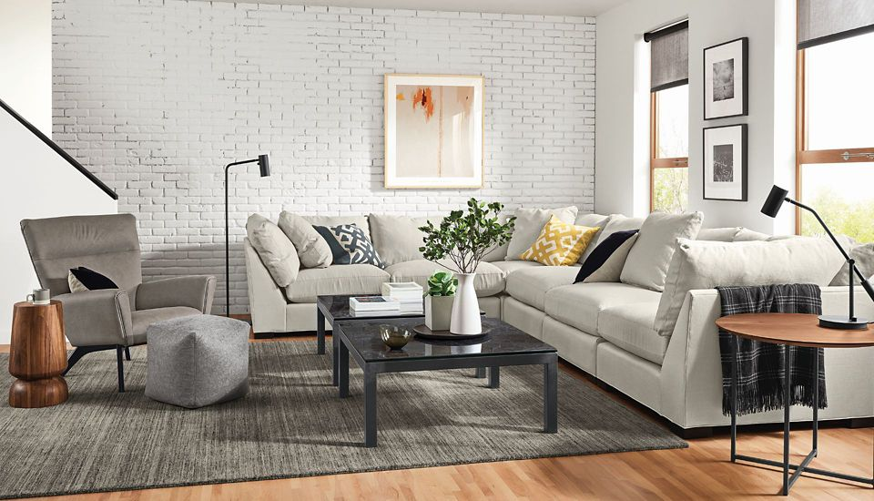 Shop this room with the Mayer 158x122 inch Six-Piece Modular Sectional