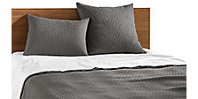 Kennewick Coverlet & Shams in Charcoal