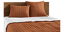 Marley Coverlet & Shams in Spice