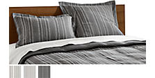 Millay Duvet Cover & Shams in Grey
