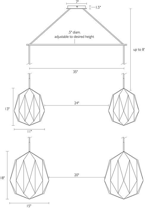 Acorn shade dimensions