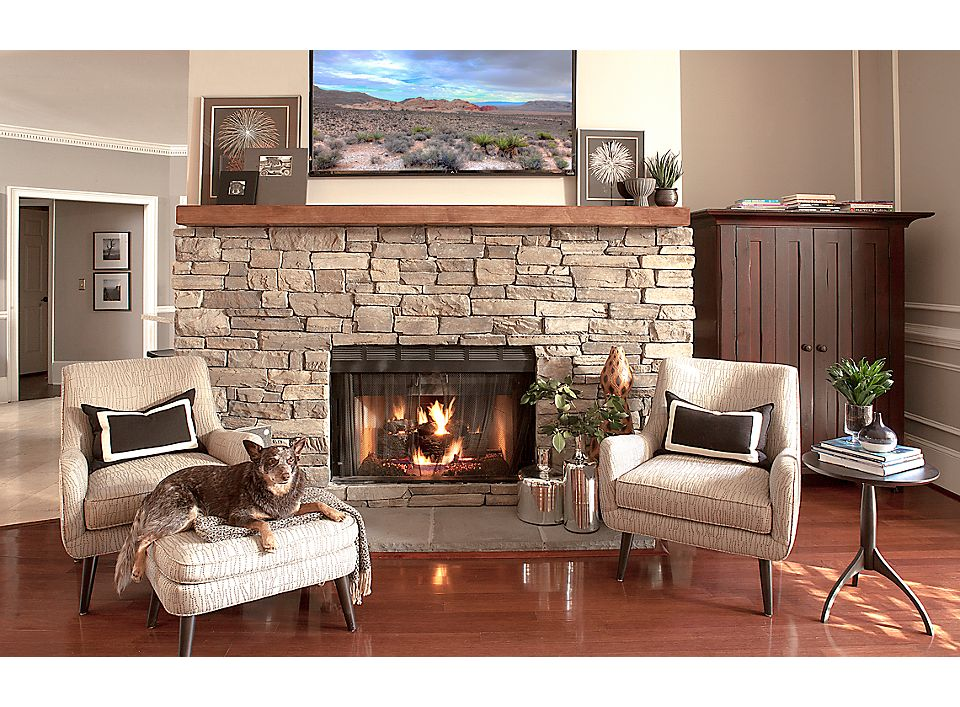 Transitional Home Fireplace Seating