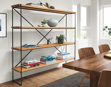 Etting Bookcases With Reclaimed Wood Shelves