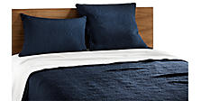 Thea Coverlet & Shams in Indigo