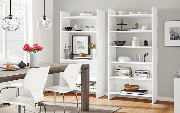 Custom Addison Bookcases in White