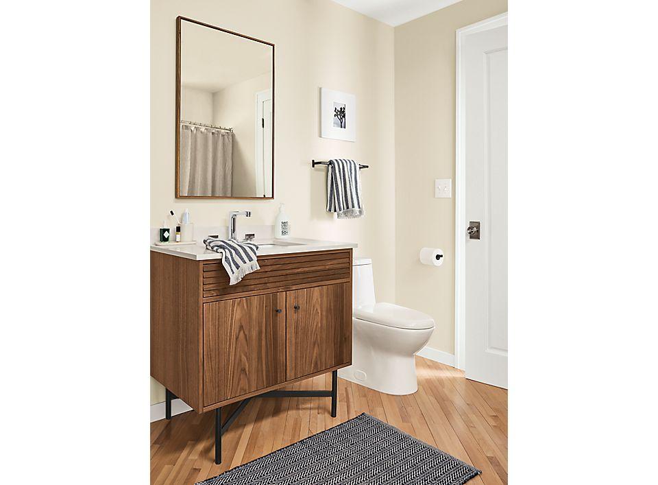 Side detail of single Adrian bathroom vanity