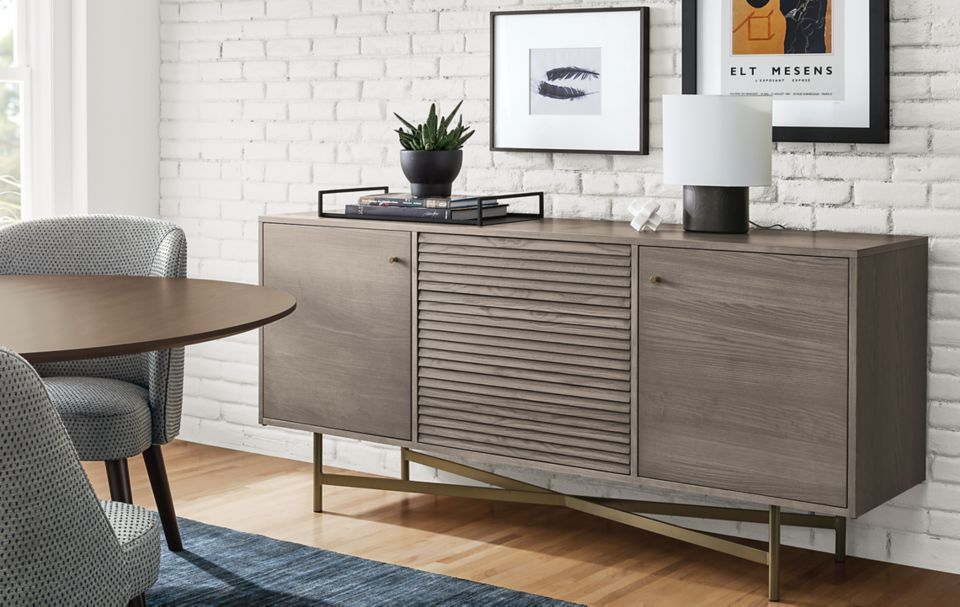 Side detail of Adrian dining cabinet