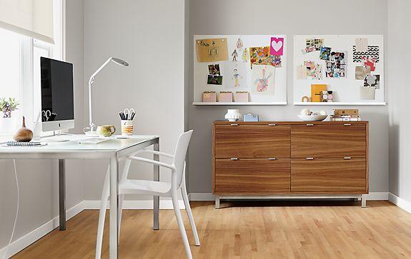 Portica Table and Copenhagen Lateral File Cabinet