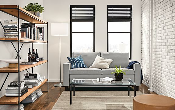 Allston Sleeper with Etting Bookcase Living Room