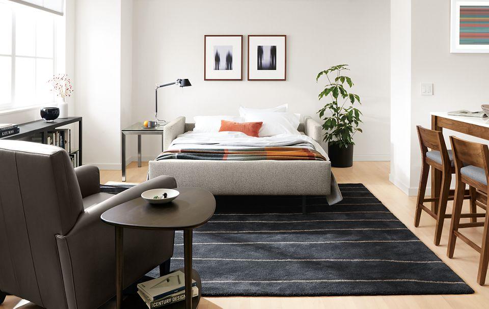 Open view of Allston sleeper sofa