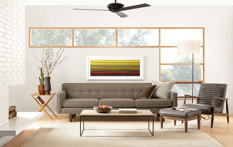 Detail of Andre three-cushion sofa
