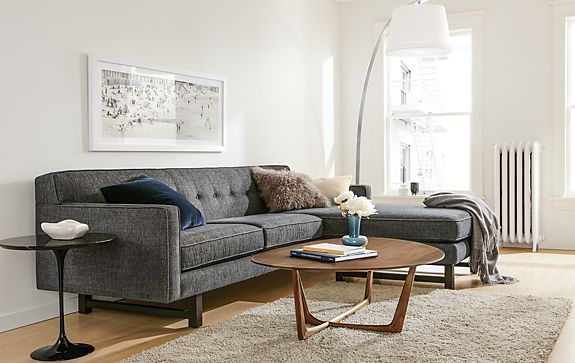 Living Room Chaise. Andr  Sofa with Reversible Chaise Modern Living Room Furniture