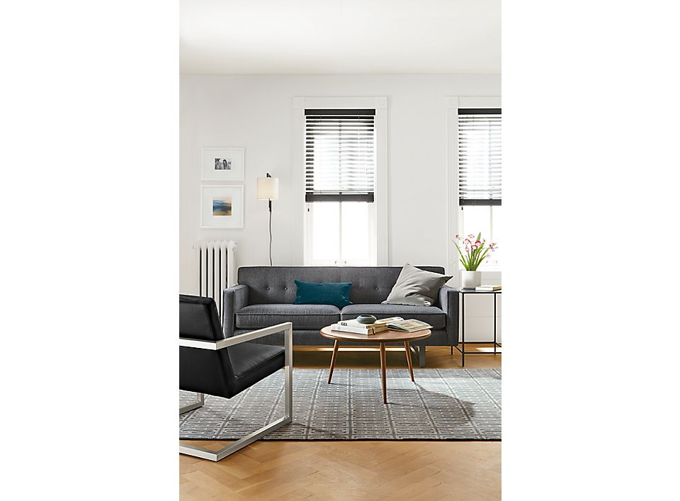 Andre two-cushion sofa in small living room