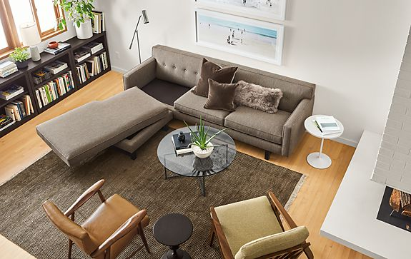André Sofa with Reversible Chaise Living Room