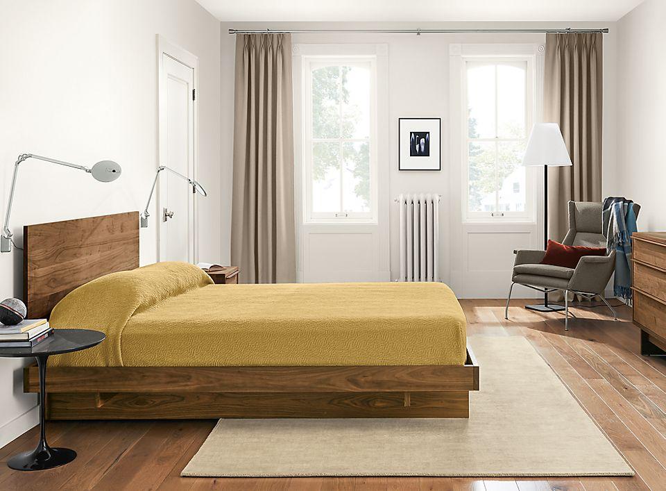 Detail of Anton wood bedroom set