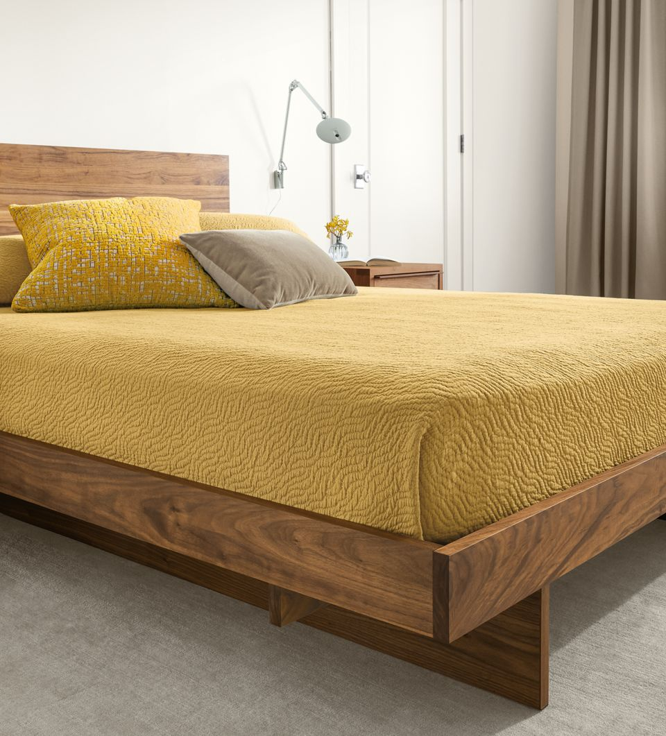 Side detail of Anton bed footboard