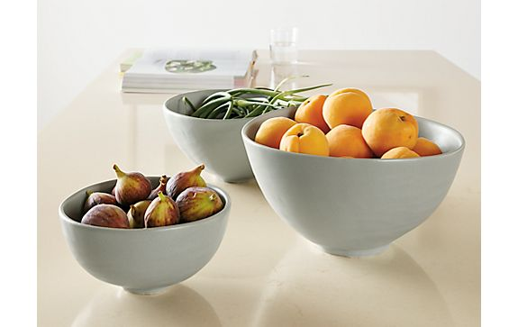 Anya Set of Three Nesting Bowls in Grey