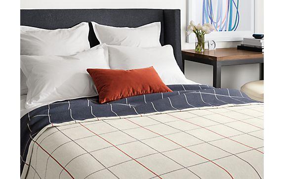 Apex Blanket in Cement/orange