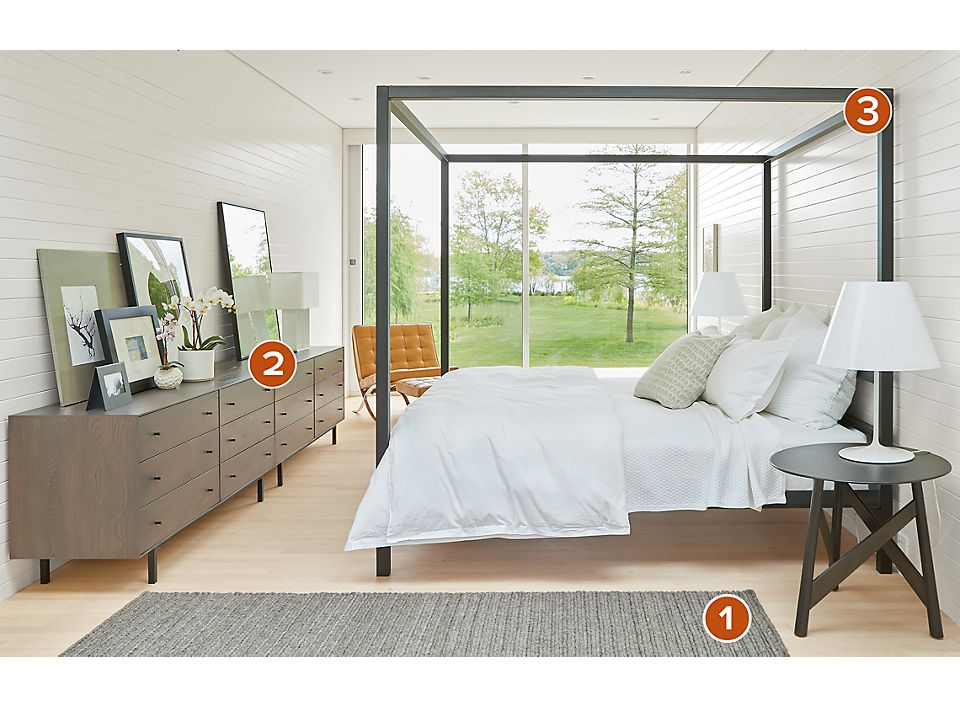 Side Detail Of Architecture Bed In Modern Bedroom