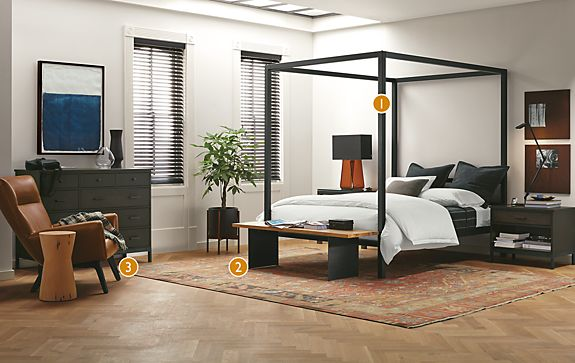 Kayseri Terra Cotta Rug Bedroom