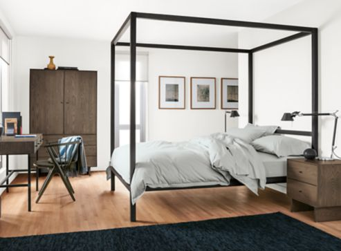 Bedroom Boards Collection architecture bed with hudson collection in bark - modern bedroom