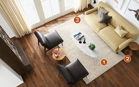 Arden 6'x9' Ivory/taupe Rug Living Room